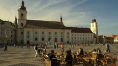 Center of Sibiu, Romania. Motion timelapse - stock footage