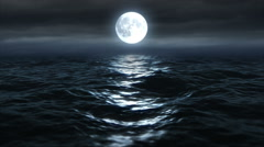 Moon Over The Ocean 2Bb Stock Footage