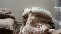 Coffee Bean Bags - stock footage