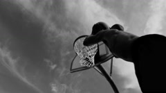 Slam dunk slow motion - stock footage