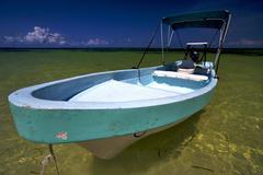 Sian kaan in mexico and blue lagoon Stock Photos