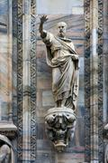 statue out of  the dome - stock photo