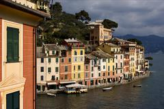 portofino in the north of italy - stock photo