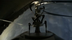 Helicopter Rotors, close up of flying and stunting - stock footage
