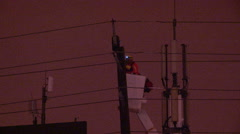 Power outage in Toronto after freezing rain storm in cold winter of 2015 - stock footage