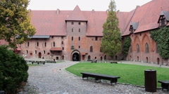 Right pan of the Middle Castle - gate view Stock Footage