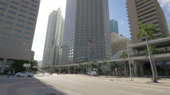 Downtown Miami in 4K- Southeast Financial Center, Florida Stock Footage