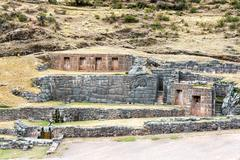 Incan Ruins of Tambomachay - stock photo