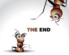 Ant Character - stock illustration