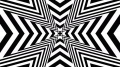 Concentric oncoming abstract symbol Maltese Cross Heraldry - optical illusion Stock Footage