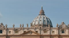 St Peter Basilica Square Vatican City Rome Roma Italy Sky Stock Footage