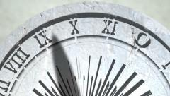 Sundial Timelapse Close Shot Stock Footage