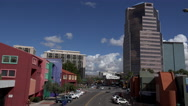 Stock Video Footage of 4K Downtown Tucson City Streets Buildings Pedestrians Time Lapse