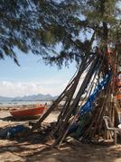 Stock Photo of Beach Lean To, Hua Hin Thailand