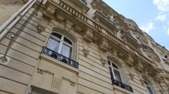 Haussmannien building Paris Stock Footage