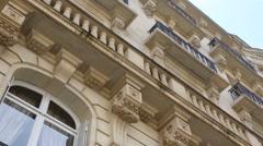 Parisian building Stock Footage