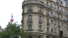 Parisian building Stock Footage