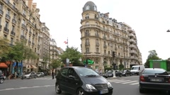 Parisian avenue Stock Footage