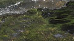 Detail shot of flowing water Stock Footage