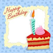 Happy birthday card. Place for text - stock illustration