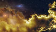 Fly along a space nebula 11610 4k UHD Stock Footage