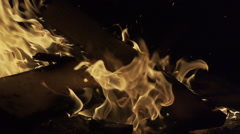 Slow motion of bonfire - stock footage
