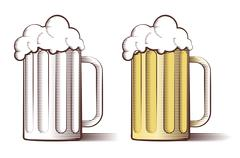 Vector illustration of beer in engraved style - stock illustration