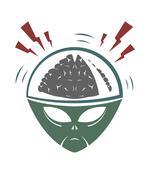 Vector illustration of evil alien invader Stock Illustration