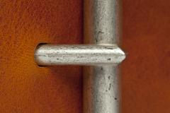 closeup of belt clasp - stock photo