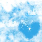 illustration of a blue sky - stock photo