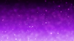 Fully looping violet abstract background with particles and stars. - stock footage