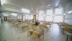 Indoor Cafeteria timelapse at lunch Stock Footage