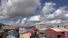 4K Colorful Downtown Tucson Arizona City Buildings Time Lapse ED Stock Footage