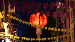 Night View of London China Town, 2015 Chinese New Year Stock Footage