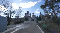 Curchi Monastery in Old Orhei, Moldova Stock Footage