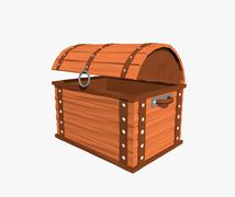 Cartoon chest - stock illustration