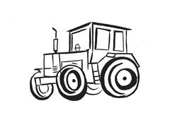 tractor - stock illustration