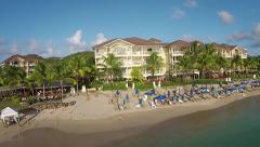 Saint Lucia Landings Hotel Beach Stock Footage