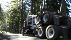 Logging Truck Going for Timber Load 1 Stock Footage