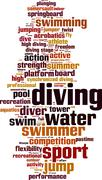 Stock Illustration of Diving word cloud