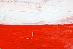Painted red and white wood texture - stock photo