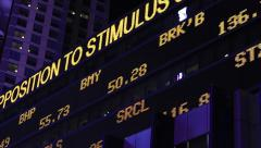 Stock Market LED Ticker Board Stock Footage