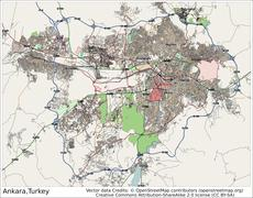 Ankara Turkey city map Stock Illustration