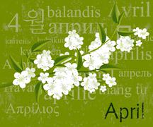 april - stock illustration