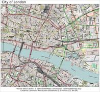 City of London area map - stock illustration