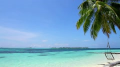 Tropical beach romantic view - stock footage