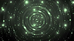 Abstract green blue background with animated circles and stars. - stock footage