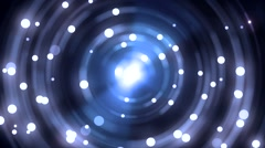 Abstract blue background with animated circles and stars. - stock footage
