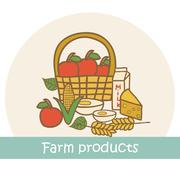 Farm produce logo Stock Illustration
