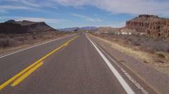 Motorcyclists View Passing RV Park Near Kingman AZ Stock Footage